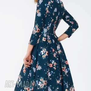 pasek sukienki sukienka marie 3/4 midi berenika