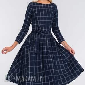 sukienki krata sukienka marie 3/4 midi gemma