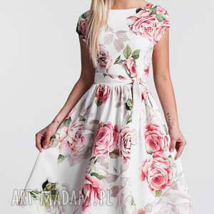 sukienka midi sukienki czerwone marie rosanna