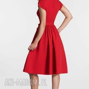 sukienki midi sukienka marie czerwień