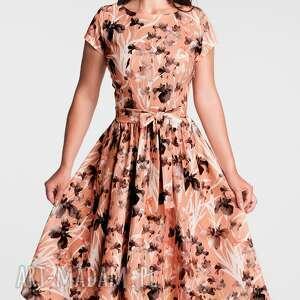 brązowe sukienki sukienka midi marie dominique