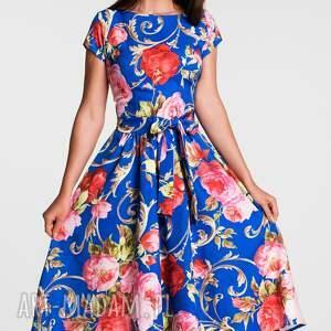 niebieskie sukienki sukienka midi marie caroline