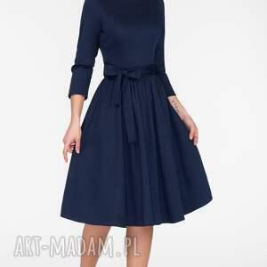 sukienki sukienka midi marie 3/4 granat