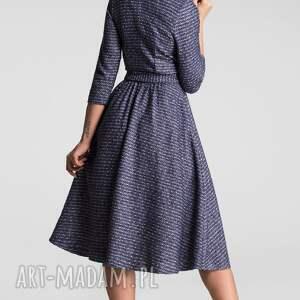 Livia Clue atrakcyjne sukienki sukienka midi marie 3/4 granat