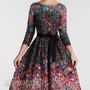 czarne sukienki sukienka na wesele marie 3/4 midi