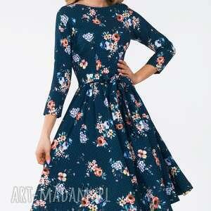 sukienki pasek sukienka marie 3/4 midi berenika