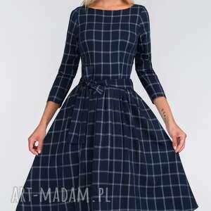 granat sukienki sukienka marie 3/4 midi gemma