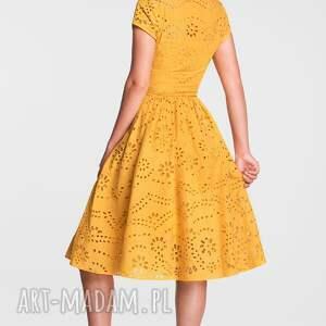 trendy sukienki sukienka na wesele marie midi haft richelieu