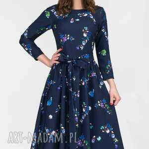 sukienki rozkloszowana sukienka marie 3/4 midi penelopa