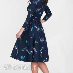 rozkloszowana sukienki sukienka marie 3/4 midi