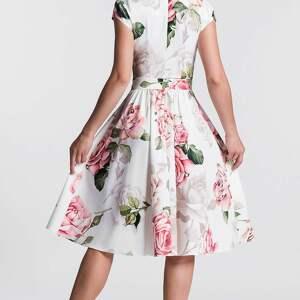 sukienki: sukienka marie midi rosanna rozkloszowana