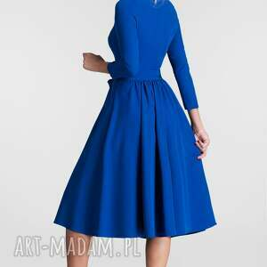 sukienki rozkloszowana sukienka marie 3/4 midi szafir