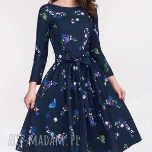 niebanalne sukienki rozkloszowana sukienka marie 3/4 midi penelopa