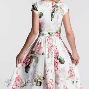 sukienki sukienka z-paskiem marie midi rosanna