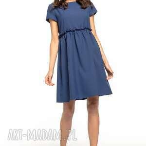 hand made sukienki urocza sukienka marszczona pod biustem