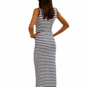 5e55a65033 niebieskie sukienki lato sukienka maxi w marynarskie paski