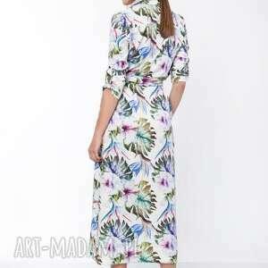 hand made sukienki maxi sukienka, suk159 liście