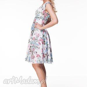 różowe sukienki piękna sukienka uszyta z włoskiego muślinu