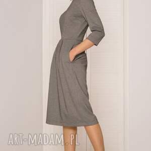 niekonwencjonalne sukienki sukienka midi w pepitkę