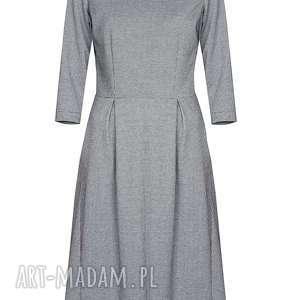 Kasia Miciak design niekonwencjonalne sukienki elegancka sukienka midi w pepitkę
