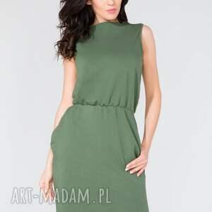 sukienki sukienka midi z kieszeniami t132