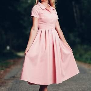 sukienki sukienka midi z kołnierzykiem