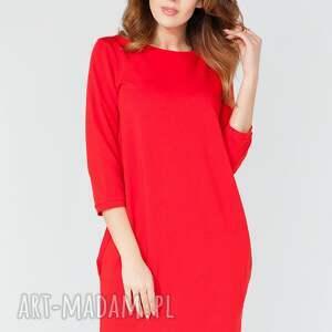 oryginalne sukienki elegancka sukienka midi z kieszeniami na