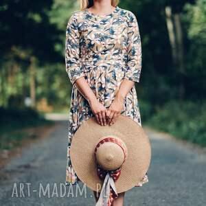 sukienki midi sukienka z wzorem w kwiaty