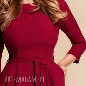 niesztampowe sukienki czerwona-sukienka sukienka monica ii rubinowa