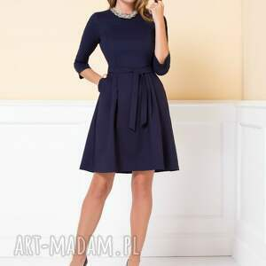 sukienki granatowa-sukienka sukienka monica ii granatowa