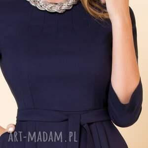sukienki rozkloszowana-sukien sukienka monica ii granatowa
