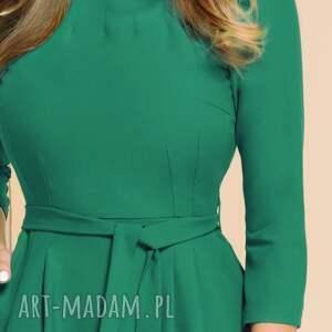 ręcznie zrobione sukienki turkusowa-sukienka sukienka monica turkusowa zieleń