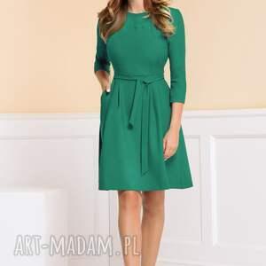 zielone sukienki turkusowa-sukienka sukienka monica turkusowa zieleń