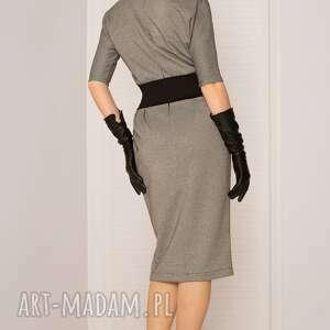 modne sukienki sukienka mono pepitka
