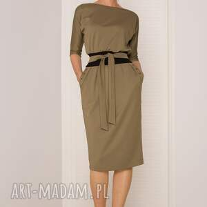 sukienki khaki sukienka mono