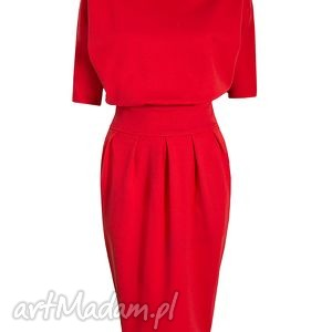 sukienka sukienki czerwone mono