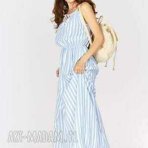 białe sukienki sukienka na lato typu maxi - paski.
