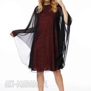 czarne szyfonowa sukienka natela