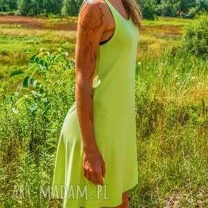 Sukienka Neon dress pistacjowa na ramiączkach