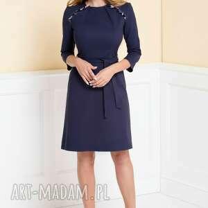 gustowne sukienki sukienka-do-pracy sukienka nicole z krótką falbaną