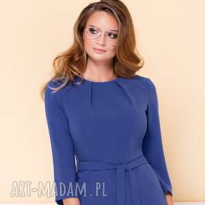 gustowne sukienki sukienka-do-pracy sukienka nicole niebieska