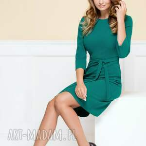 sukienki elegancka-sukienka sukienka nicole morska zieleń
