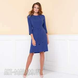 sukienki elegancka-sukienka sukienka nicole niebieska