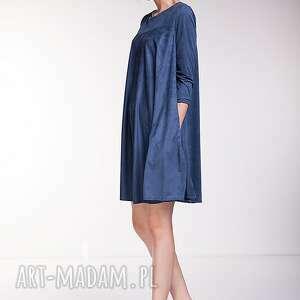 handmade sukienki moda sukienka noelia - niebieska