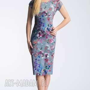 ręczne wykonanie sukienki dopasowana sukienka nora ii midi kalinna