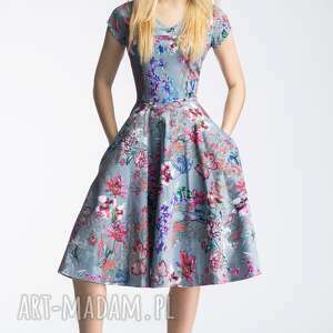 szare sukienki kieszenie sukienka nora ii midi