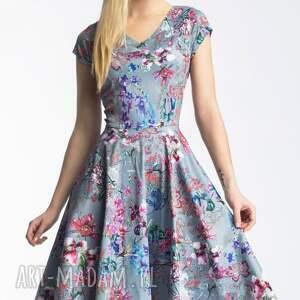 rozkloszowana sukienki różowe sukienka nora ii midi