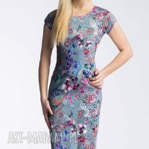 dopasowana sukienki szare sukienka nora ii midi kalinna