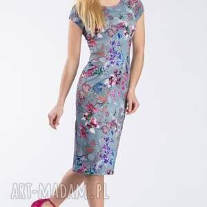 ręczne wykonanie sukienki kwicista sukienka nora ii midi kalinna