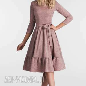 urokliwe sukienki sukienka olga 3/4 midi melanż
